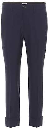 Miu Miu Wool-blend cropped trousers