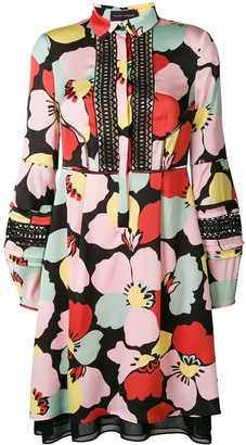Talbot Runhof floral print shirt dress