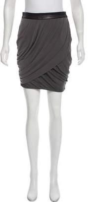 Rag & Bone Leather Trimmed Mini Skirt
