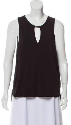 Rag & Bone Leather-Accented Cut-Out Top