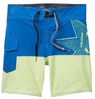 Volcom Lido Block Mod Board Shorts (Toddler & Little Boys)