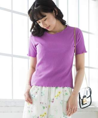 WEGO (ウィゴー) - WEGO メロウフリルリブTシャツ