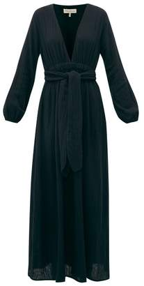 Mara Hoffman Luna Tie Waist Cotton Voile Dress - Womens - Black
