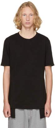 D.gnak By Kang.d Black Folded Slim T-Shirt