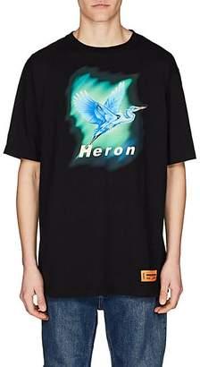 Heron Preston Men's Heron-Graphic Cotton Jersey T-Shirt - Black
