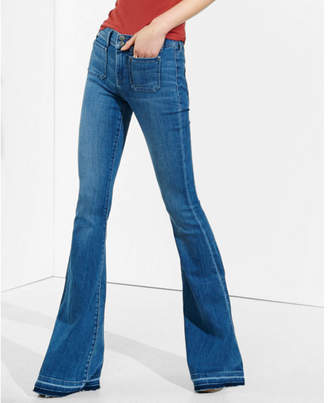 Express mid rise released hem bell flare jean $79.90 thestylecure.com