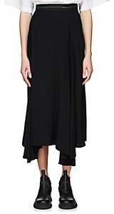 Prada Women's Pleated Godet Skirt - Black