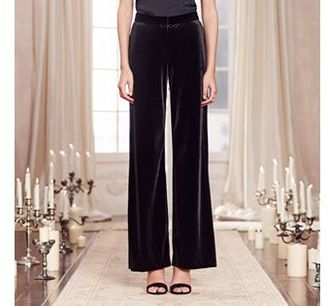 LC Lauren Conrad Runway Collection Wide-Leg Velvet Pants - Women's $60 thestylecure.com