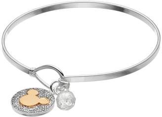 Disney's Mickey Mouse Two Tone Crystal Charm Bangle Bracelet $60 thestylecure.com