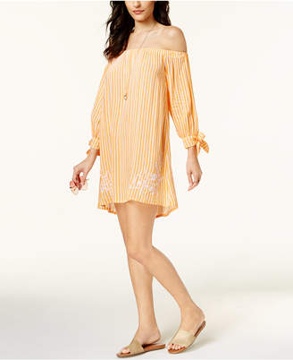 Jessica Simpson Cotton Candy Off-The-Shoulder Cover-Up Women's Swimsuit