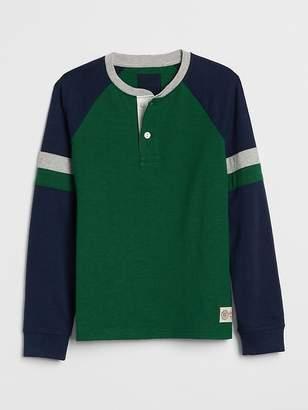 Gap Henley Long Sleeve T-Shirt
