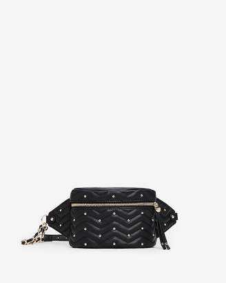 Express Quilted Studded Fanny Pack