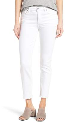 7 For All Mankind Roxanne Ankle Straight Leg Jeans (White Fashion)