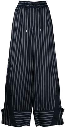 Sacai striped wide-leg trousers