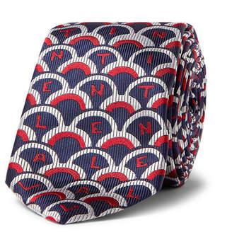 Valentino Garavani 6cm Silk-Twill Tie - Men - Navy