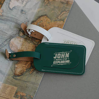 Undercover Personalised Leather Luggage Tag
