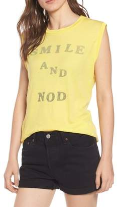 Wildfox Couture Smile and Nod Vintage Muscle Tee