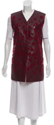 Lanvin Leather Devoré Vest