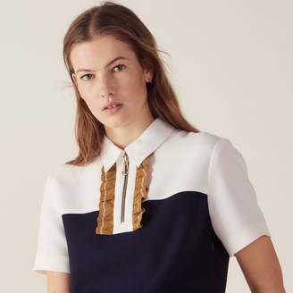 Sandro Short two-tone dress