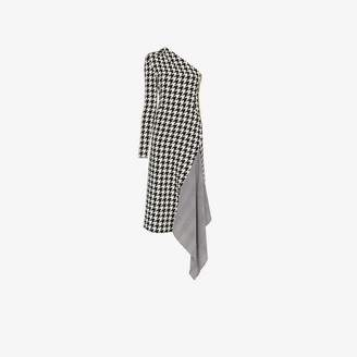 Off-White Off White Houndstooth one-shoulder dress