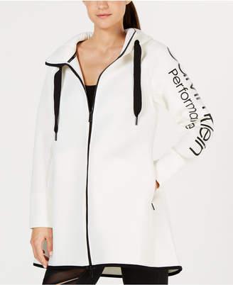 Calvin Klein Dolman-Sleeve Hooded Walker Jacket