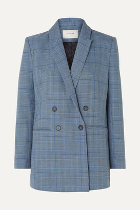MUNTHE - Dietes Checked Woven Blazer - Blue
