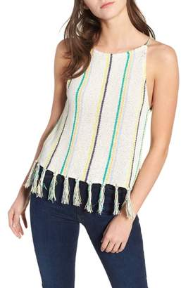 Cupcakes And Cashmere Cecille Stripe Sweater Tank