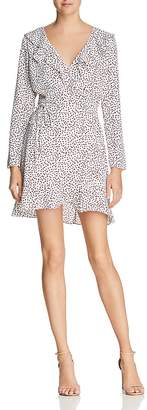 Lucy Paris Ruffled Printed Wrap Dress - 100% Exclusive