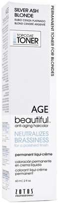 Ash Agebeautiful Silver Blonde Permanent Liqui-Creme Topcoat Toner