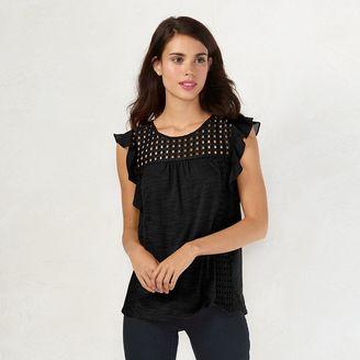 Women's LC Lauren Conrad Eyelet Top $36 thestylecure.com