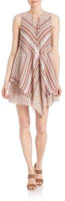 Derek Lam 10 Crosby Lace-Up Layered Silk Dress