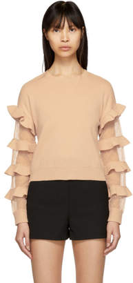 RED Valentino Pink Ruffle Sweater