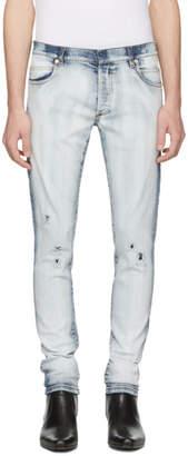 Balmain Blue Bleached Jeans