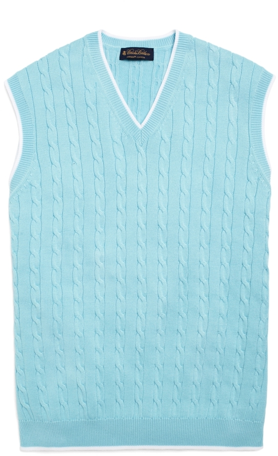 Brooks Brothers Supima® Cable Vest