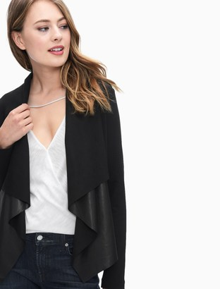 Faux Leather Drape Jacket $178 thestylecure.com