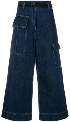 Kenzo cropped wide-legged jeans