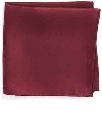Nordstrom King Twill Silk Pocket Square