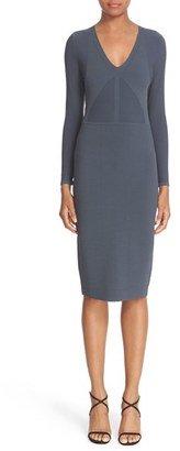 Women's Narciso Rodriguez Double Knit Midi Sheath Dress $1,395 thestylecure.com