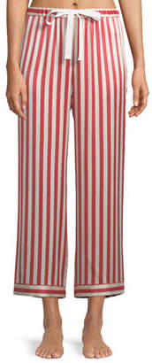 Americana Morgan Lane Chantal Striped Silk Pajama Pants