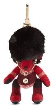 Burberry Thomas Bear Busby Cashmere Key Ring - Womens - Black Red