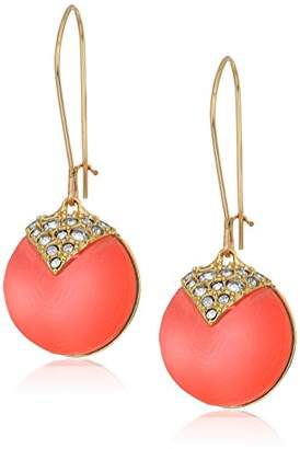 Alexis Bittar Crystal Encrusted Origami Inlay Dangling Sphere Kidney Wire Drop Earrings