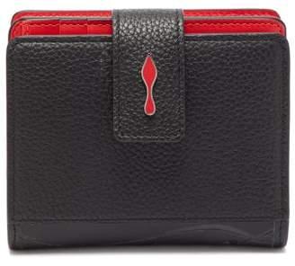 4c3ba1889233 Christian Louboutin Paloma Bi Fold Grained Leather Wallet - Womens - Black