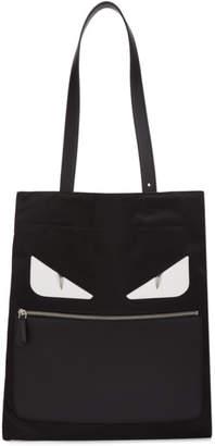 Fendi Black Slim Bag Bugs Tote