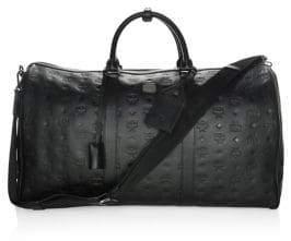 MCM Embossed Leather Weekender