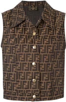Fendi Pre-Owned Zucca pattern buttoned waistcoat