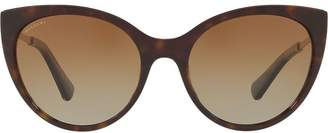 Bulgari tortoiseshell cat eye sunglasses