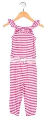 Ralph Lauren Girls' Striped Knit Jumpsuit