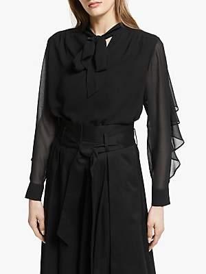 35cdb9828d80 Somerset by Alice Temperley Tie Neck Ruffle Sleeve Blouse, Black