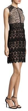 Nanette Lepore Amaretto Lace & Leopard-Print Dress $448 thestylecure.com