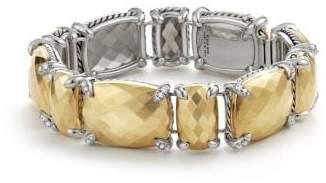David Yurman Chatelaine Linear Bracelet With Diamonds And 18K Gold